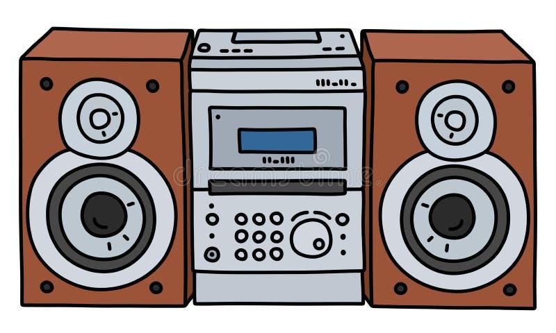 La micro torre di musica illustrazione di stock