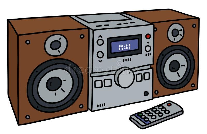La micro torre di musica royalty illustrazione gratis