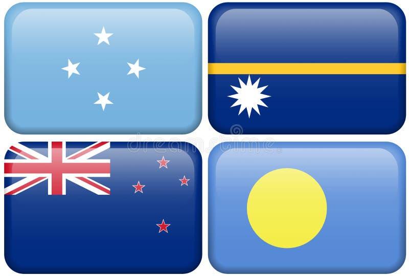 La Micronésie, Nauru, Nouvelle Zélande, Palau illustration stock