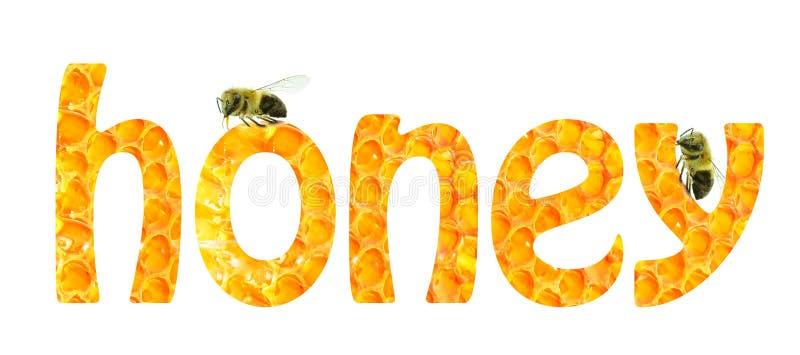 La miel de la palabra stock de ilustración