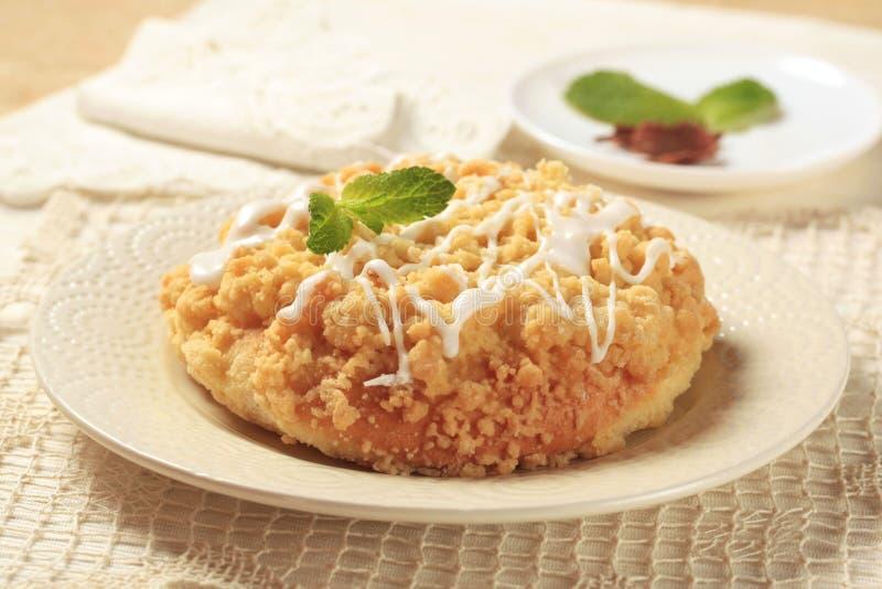 La miette a complété la pâtisserie de petit déjeuner images libres de droits