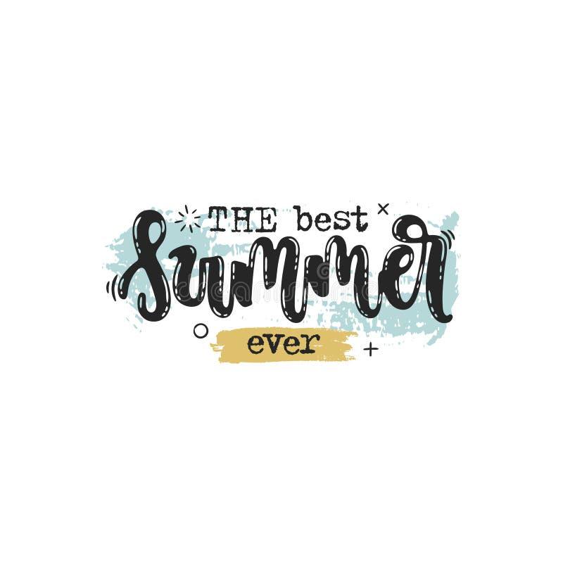 La migliore estate mai illustrazione vettoriale
