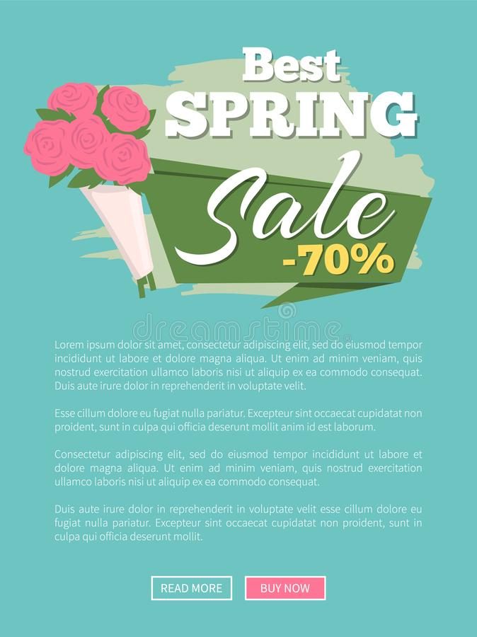 La migliore vendita della primavera sconta ed offre il sito Web illustrazione vettoriale