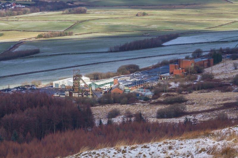 La mina de carbón de la torre, era la mina de carbón de extracción subterránea pasada en País de Gales, parentesco unido imagen de archivo