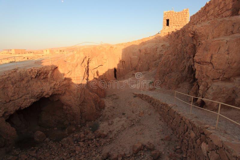 La mina de la fortaleza de Masada en Israel imágenes de archivo libres de regalías