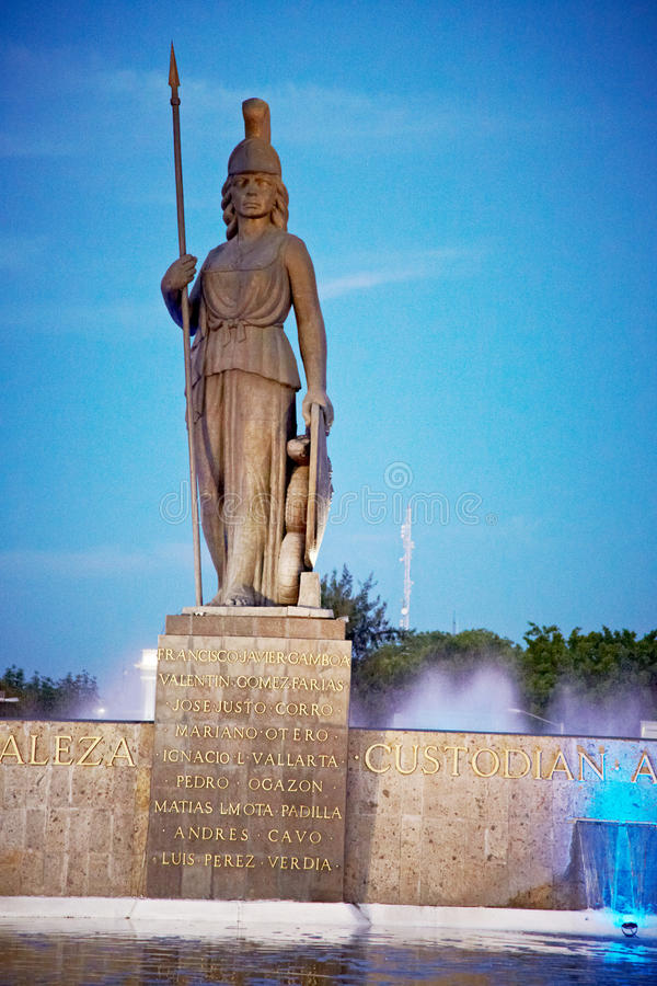 La Minerva à Guadalajara photo stock