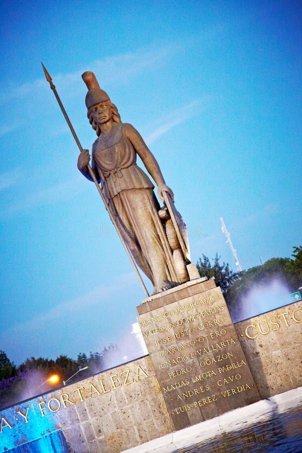La Minerva a Guadalajara immagine stock libera da diritti