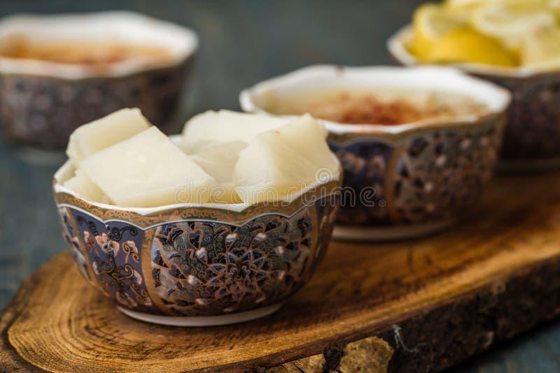 La minestra di Arabasi, pollo ha basato la minestra dalla cucina turca fotografie stock