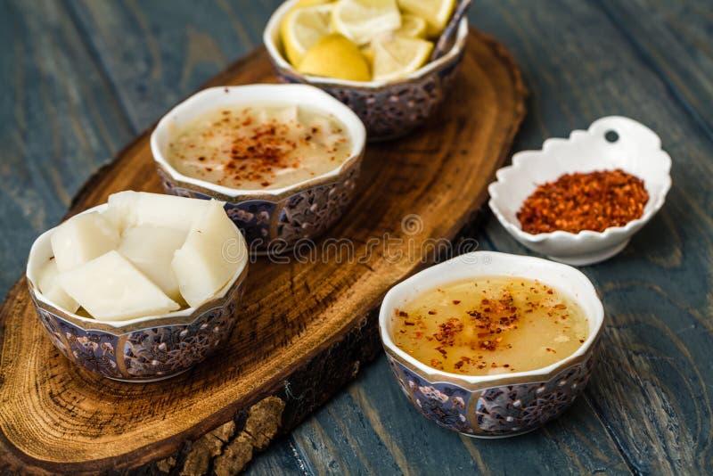 La minestra di Arabasi, pollo ha basato la minestra dalla cucina turca fotografia stock libera da diritti