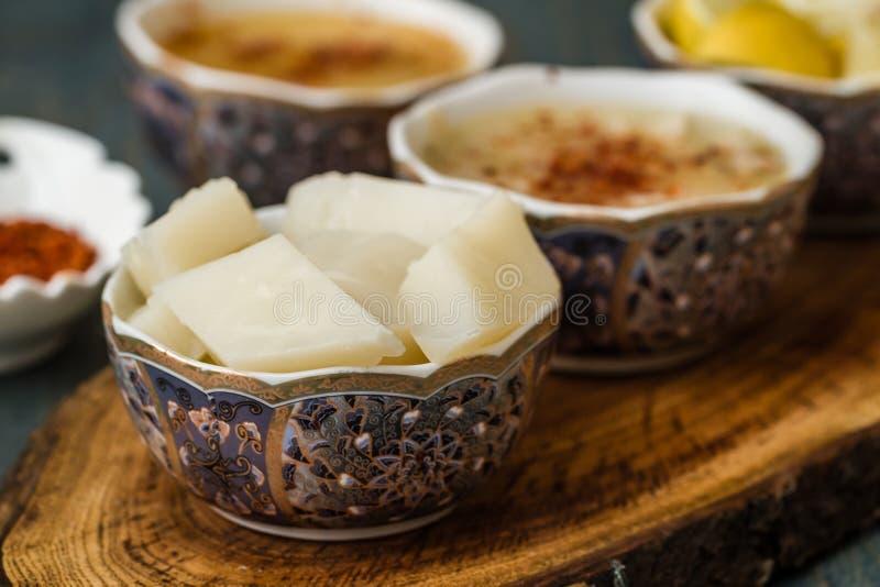 La minestra di Arabasi, pollo ha basato la minestra dalla cucina turca immagini stock libere da diritti