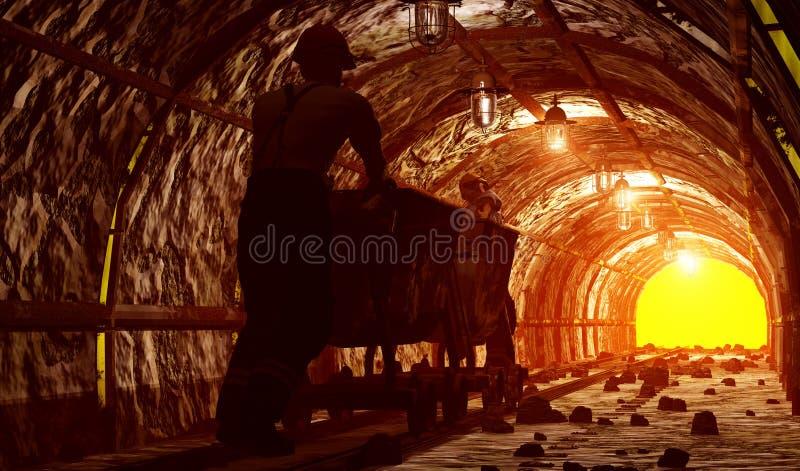La miniera. royalty illustrazione gratis