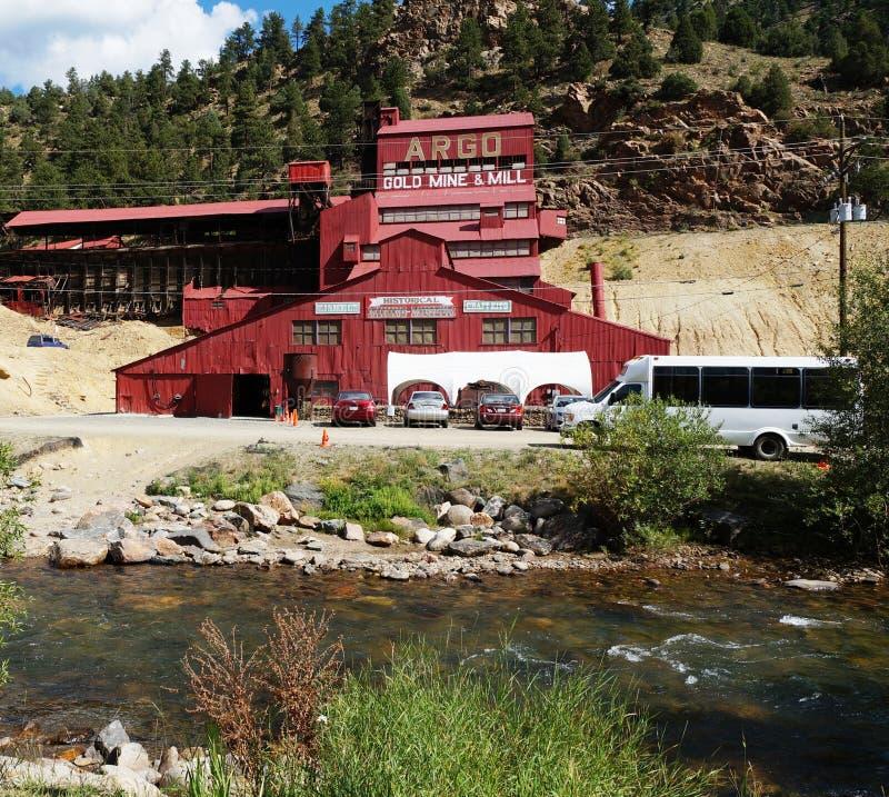 La miniera d'oro ed il mulino di Argo in Colorado immagine stock libera da diritti