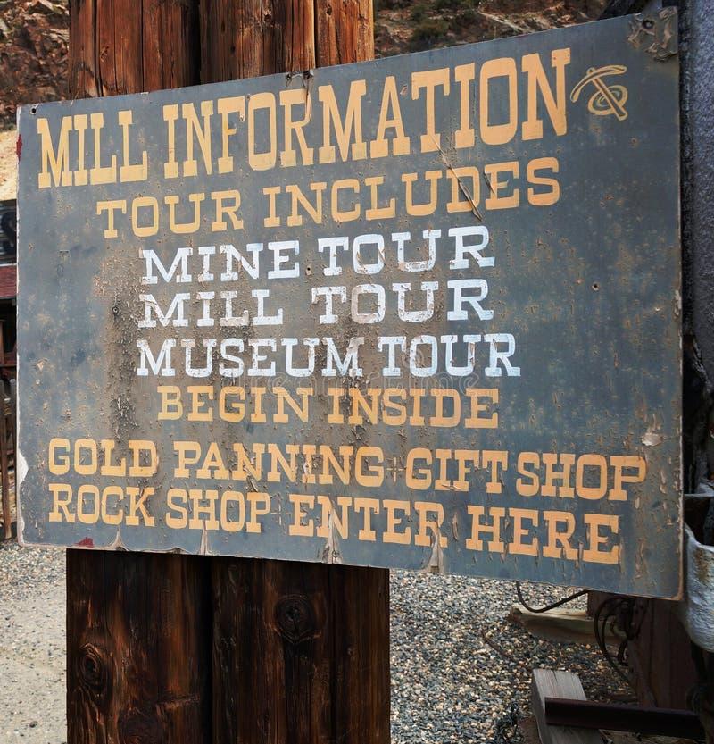 La miniera d'oro ed il mulino di Argo in Colorado immagine stock