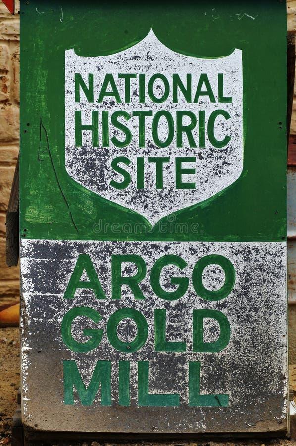 La miniera d'oro ed il mulino di Argo in Colorado immagini stock