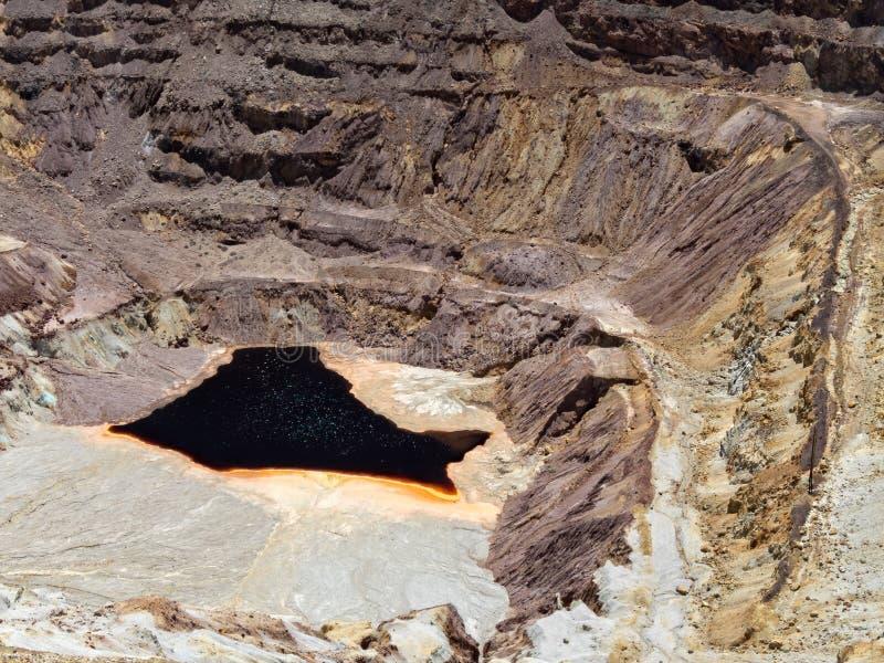 La miniera di rame della lavanda a Bisbee, Arizona fotografia stock
