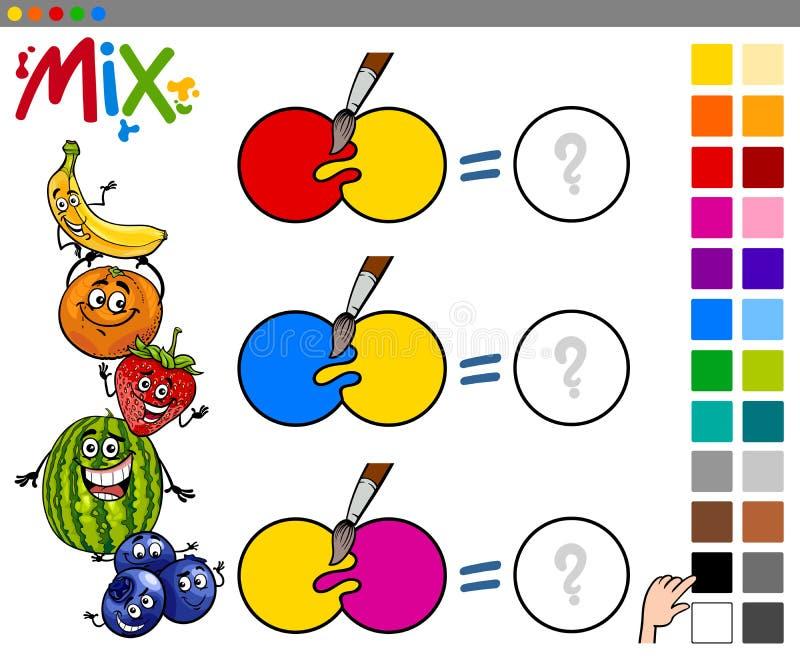 La miscela colora il gioco educativo illustrazione vettoriale
