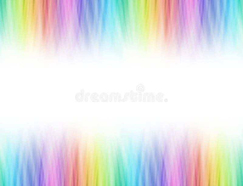La miscela dell'arcobaleno si è laureata l'intestazione e la persona alta un dato numero di piedi lineari illustrazione di stock