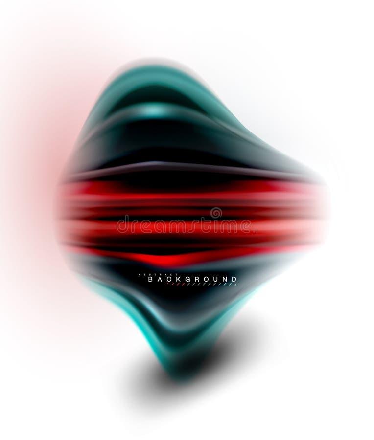 La miscelazione liquida fluida colora il concetto sulla linea grigio chiaro del fondo, dell'onda e di flusso della curva di turbi illustrazione di stock