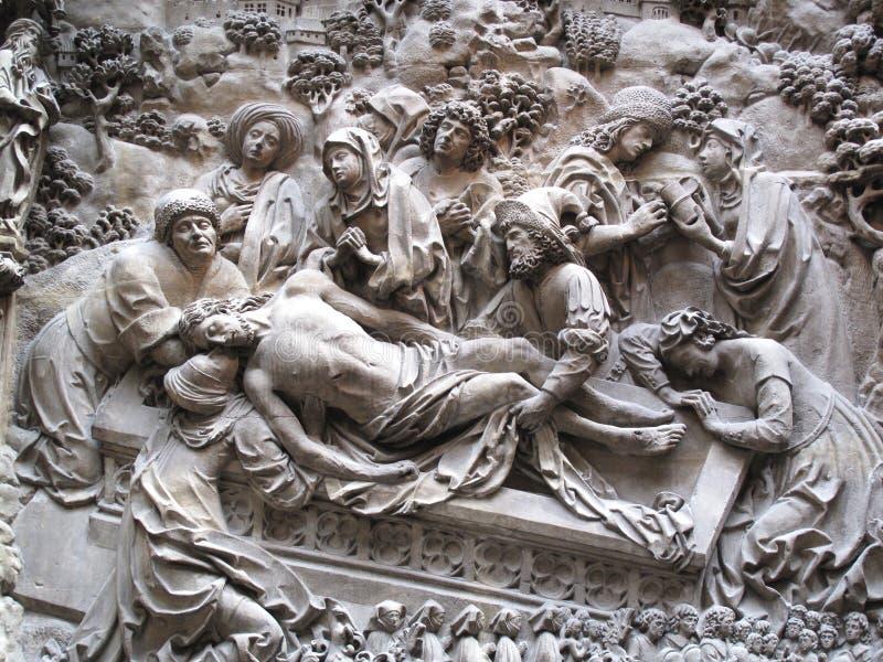 La mise au tombeau du Christ Schreyer-Landauer Monumen photos libres de droits
