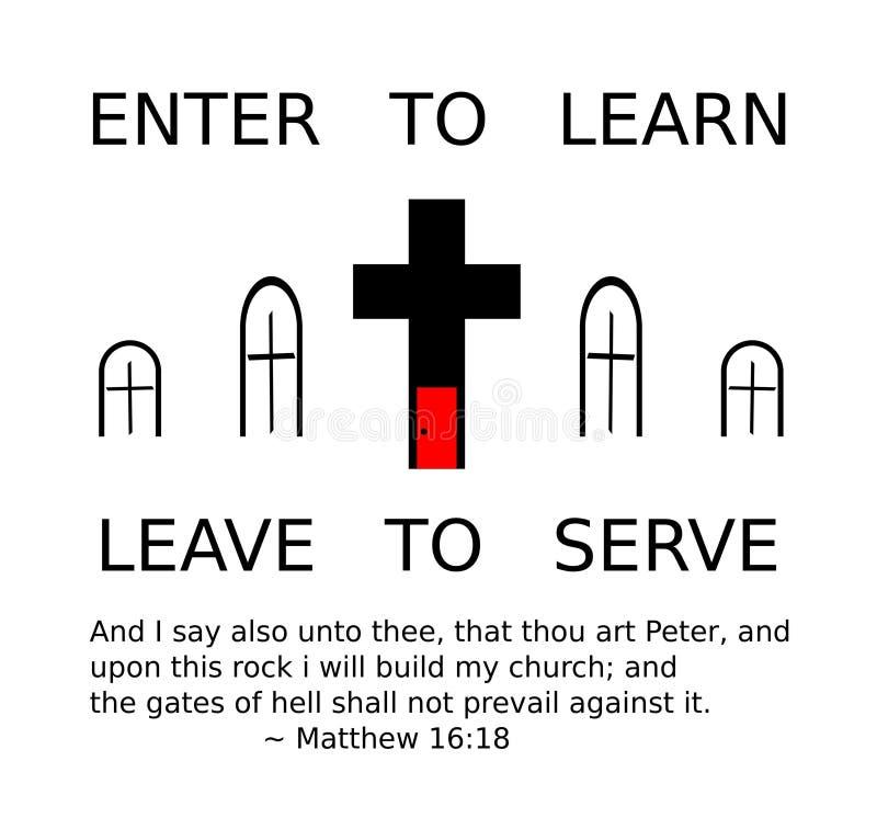 La missione della chiesa illustrazione vettoriale