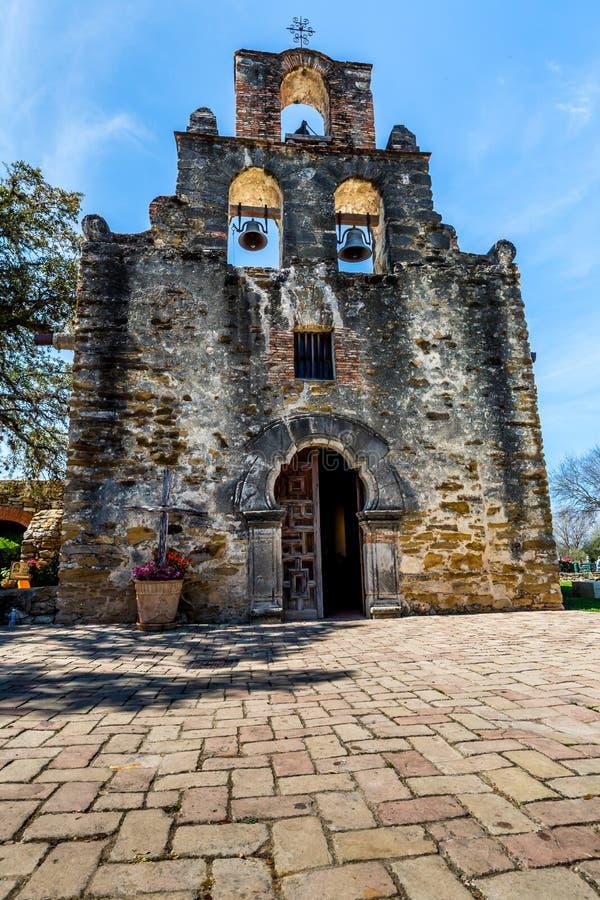 La missione spagnola storica Espada, il Texas immagini stock libere da diritti
