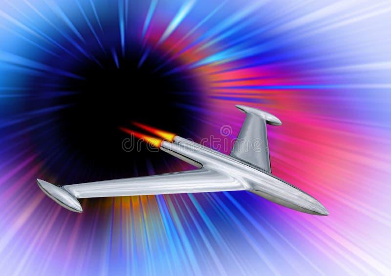 La missione spaziale con equipaggio a guasta la galassia dello spazio di viaggio dell'esplorazione delle astronavi dei razzi di v illustrazione di stock