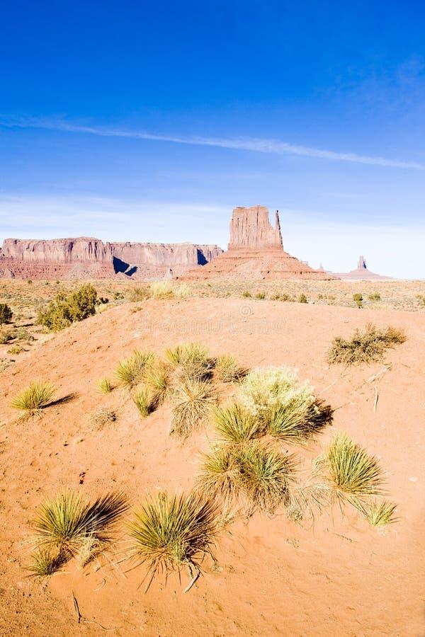 La mitaine, parc national de vallée de monument, Utah-Arizona, Etats-Unis photos stock