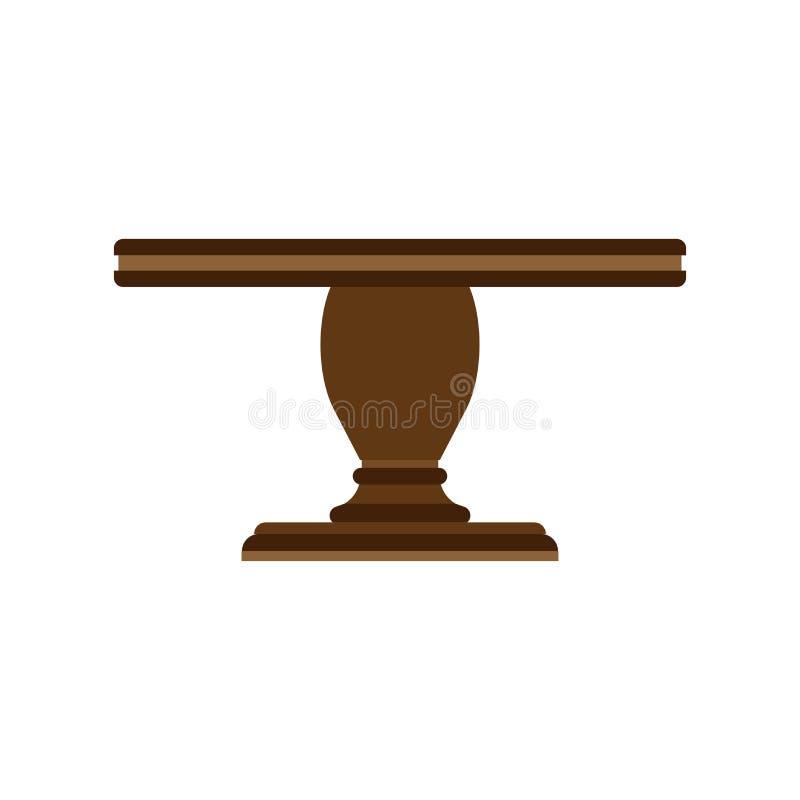 La mobilia dell'icona di vettore di vista laterale della Tabella ha isolato interno Lo scrittorio vuoto dell'elemento di affari d illustrazione di stock