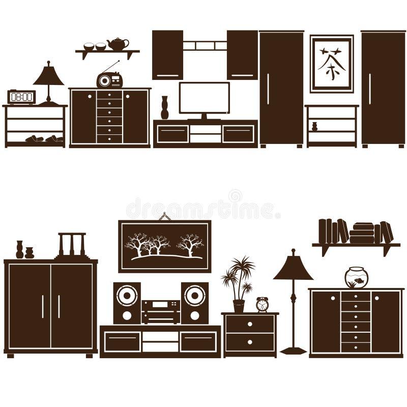 La mobilia mette eps10 illustrazione vettoriale