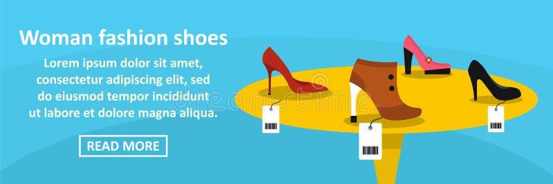 La mode de femme chausse le concept horizontal de bannière illustration libre de droits