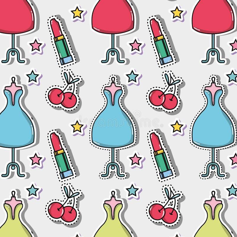 La mode mignonne raccorde la conception à la mode illustration stock