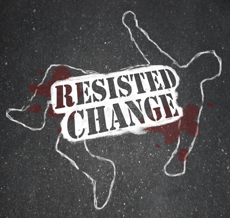 La modification de résistance mène à l'obsolescence ou à la mort illustration stock