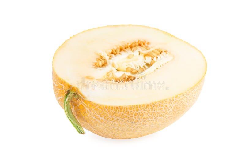 La moitié du melon jaune photos libres de droits