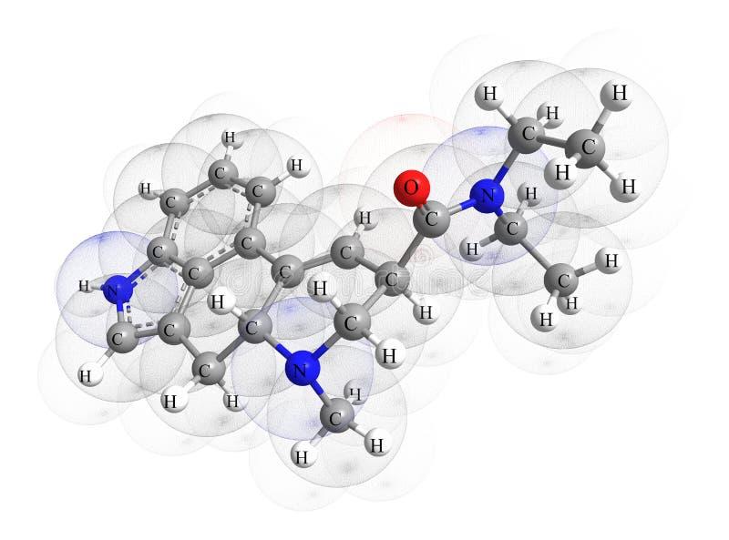 La molécula del lsd ilustración del vector
