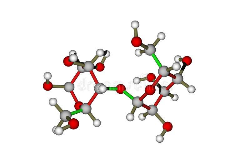 La molécule du lactose (lactose) illustration libre de droits