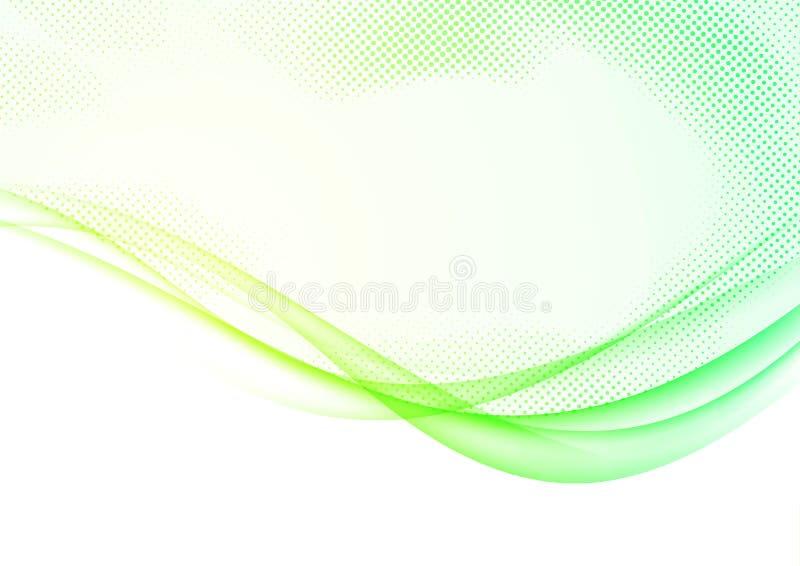 La molla morbida futuristica moderna mormora le linee backgroun dell'onda del confine illustrazione di stock