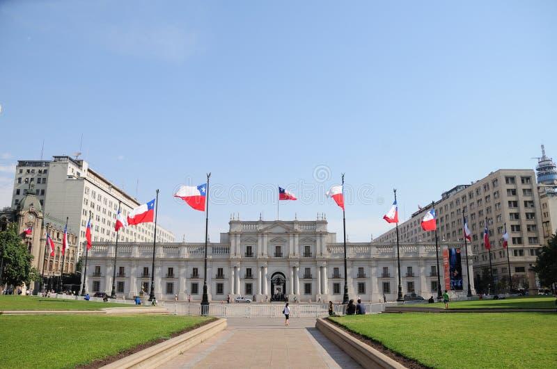 La Moneda宫殿,智利 免版税库存图片