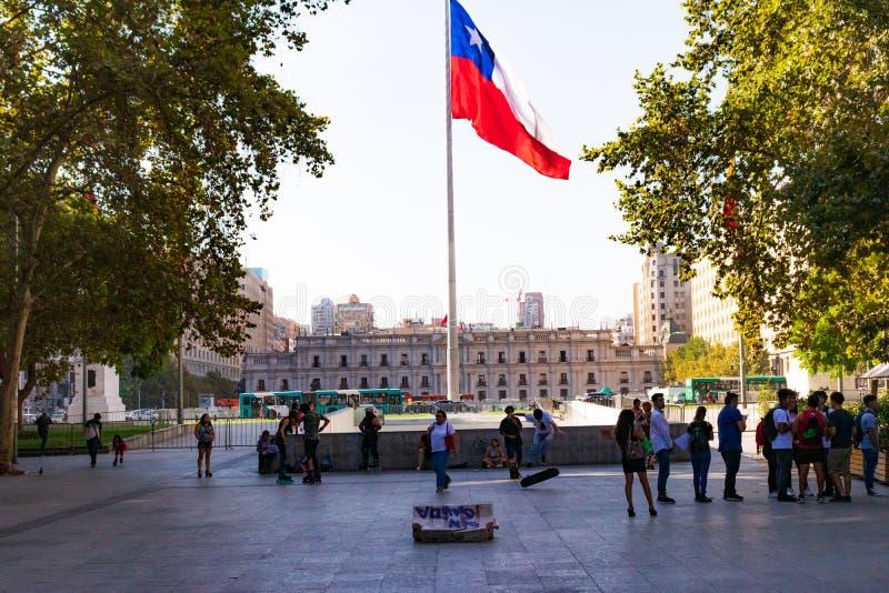 La moneda,圣地亚哥de智利 免版税库存图片