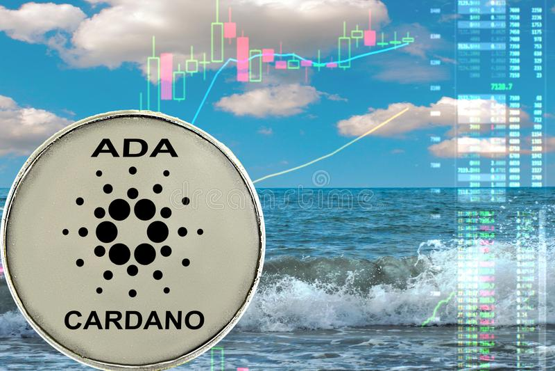 La moneda de Cardano imágenes de archivo libres de regalías