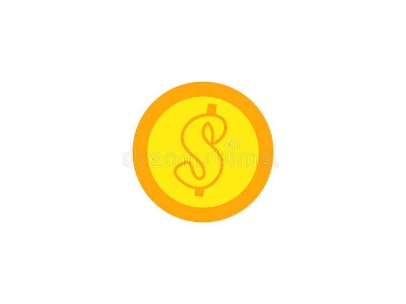 La moneda en el fondo blanco stock de ilustración