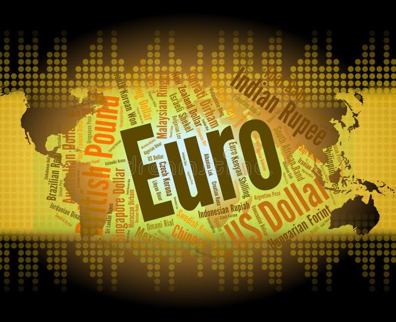 La moneda euro representa el intercambio Rate And Coin libre illustration