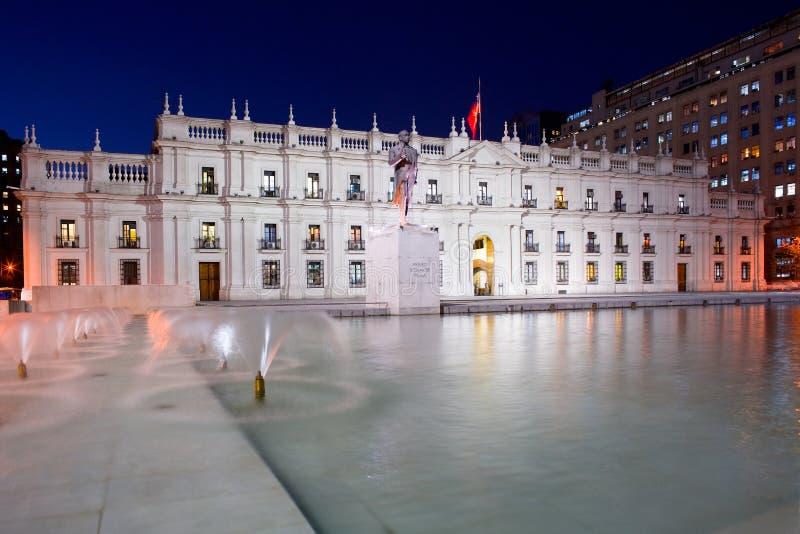 ?La Moneda?, palacio del gobierno de Chile imagen de archivo