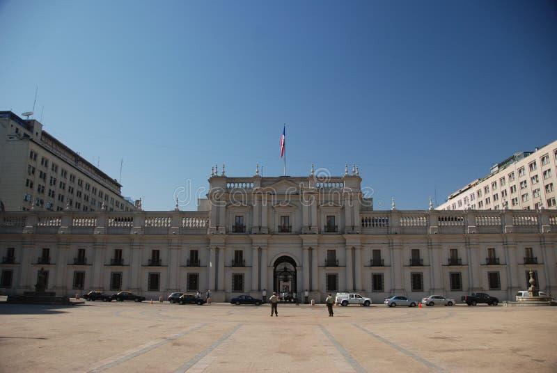 La Moneda van Palacio in Santiago royalty-vrije stock foto's