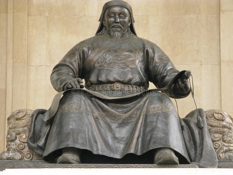 La Mongolia - Genghis Khan fotografia stock libera da diritti