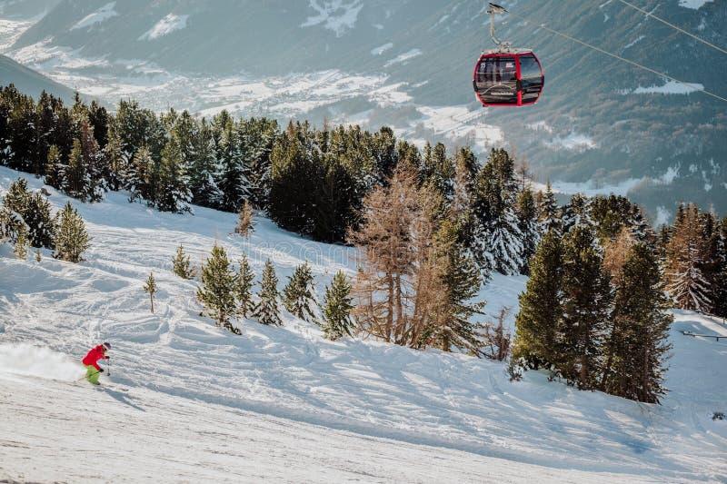 La montaña de Patscherkofel en Innsbruck Austria imagen de archivo libre de regalías