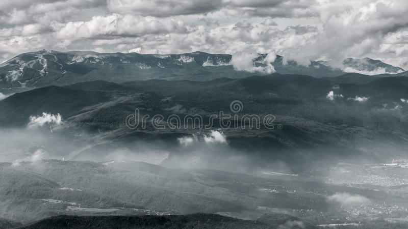 La montaña olímpica Bjelasnica foto de archivo