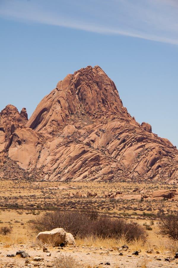 La montagna di Spitzkoppe in Namibia immagini stock