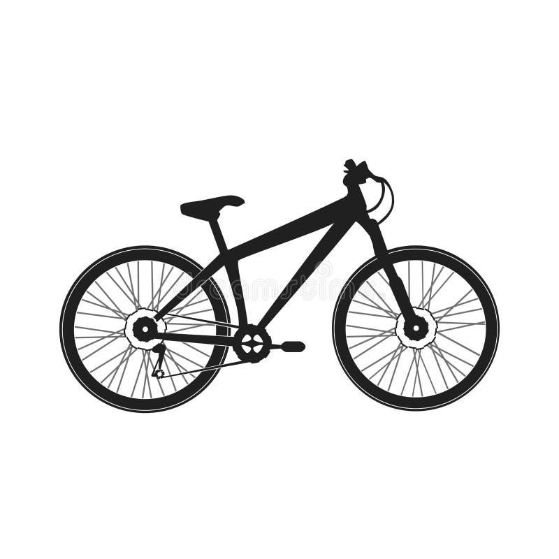 La montagna mette in mostra la bici per lo sbarazzamento estremo fotografia stock libera da diritti