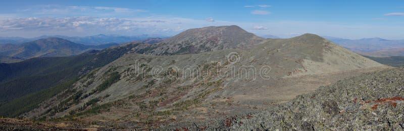 La montagna russa Alberi e montagna fotografia stock libera da diritti