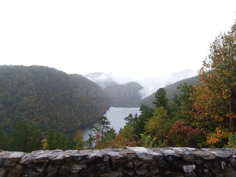 La montagna trascura nel Carolinas fotografia stock